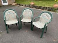 Garden chairs - plastic