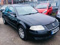 VW PASSAT 1.9 DIESEL MANUAL SALOON BLACK 2005 DRIVES NICE CLEAN CAR