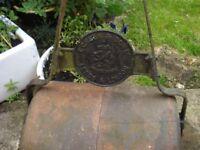Old garden roller, ideal garden decoration, T Green & Sons Ltd,reg Leeds and London
