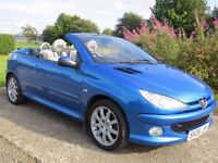 !!DIESEL!! 2006 PEUGEOT 206CC 1.6 HDI / MOT JUNE 2017 / SERVICED / IMMACULATE CONDITION / MUST SEE