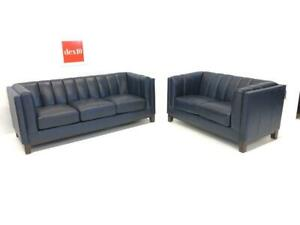 IN STOCK -TOP GRAIN LEATHER -Couch and Loveseat  40% off online WHOLESALE - Was $4,999. NOW $2,499.99
