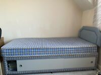 Bed & Mattress with storage underneath