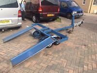 Heavy Duty Towing Tow Dolly Fully Braked Steering Suspension Car 4x4 Small Van