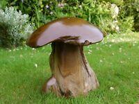 Beautiful NEW Heavy Wood Mushrooms For Indoor or Out Door Garden