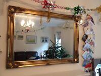 Gold framed mirror 108cm X 75cm