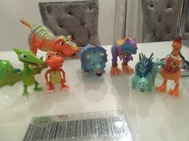 7 Dinosaur Train Interaction characters - talking and interactive characters