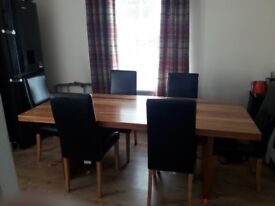 Table and 6 brand new chairs