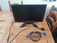 Flat screen LCD monitor perfect condition 18 inch ACER X193HQ