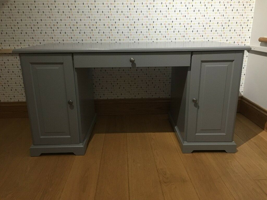 Ikea Liatorp Grey Desk Free Wall Shelf Used But In Good Condition