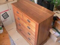 Antique Early Edwardian American Walnut Chest of Drawers