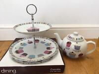 Cake Stand with matching tea pot