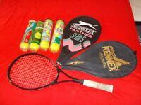 Slazenger panther ultra slim aluminium tennis racquet plus tennis balls £12