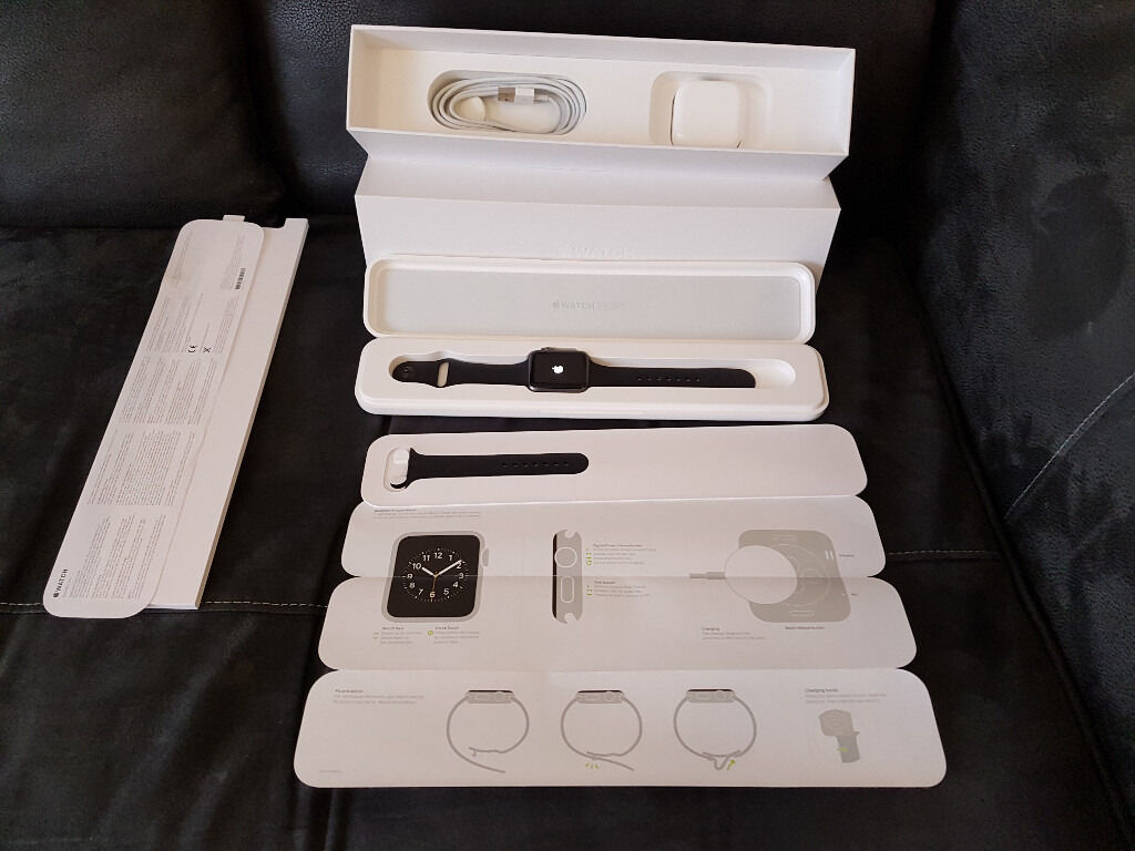 Apple Watch 42mm Sport Blackused, mint conditionmay swap with Gear S2in Enfield, LondonGumtree - Apple Watch 42mm Sport Space Grey (Series1) immaculate, only used a few months, small size wrist band used, also comes with large size which is brand new. May consider swap with Samsung Gear S2 in same condition. Track and share your activity....