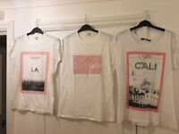 White printed t-shirts *GREAT DEAL* - SIZE 14