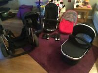 Icandy Peach 3 Pram - Colour Black magic
