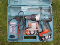 Job lot of Electric Drills with chargers and cases