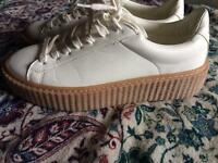 White creeper trainers