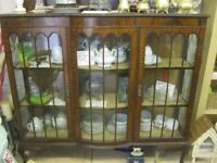 STUNNING GLAZED VINTAGE ORNATE DISPLAY CABINET. VIEWING / DELIVERY AVAILABLE