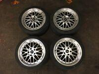 """BBS Le Mans 18"""" Alloy Wheels 5x120 LM BMW E36 E46 E90 Split Rims VW Audi T4 T5 M3"""