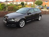 Audi A3 1.6 TDI Sport Sportback 5dr Lava Grey Metallic: low milage, long MOT, new tyres & break pads