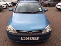 Vauxhall Corsa 1.2i 16V 5dr done Full services History