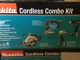 Makitia DLX4137TX1 4 piece kit. New never used, still in box