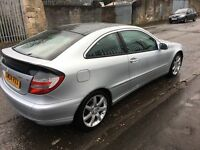 Mercedes Benz c class coupe - low mileage - silver