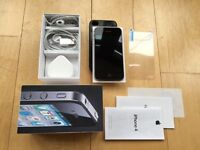 I PHONE IPHONE 4, ALL NETWORKS UNLOCKED, 32GB, BLACK, EXCELLENT CONDITION, BOXED WITH ALL ACCESSORY