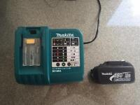 Makita 18v 3Ah lithium battery & charger