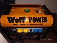 Wolf Powerful WP7500E Petrol Generator on Wheels