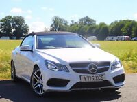 Mercedes-Benz E220 AMG Line Cabriolet White Red Leathers Bargain PX considered