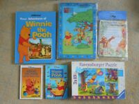 Winnie the Pooh books, Jigsaws and party invitations Games Toys