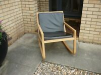 Habitat solid oak rocking chair