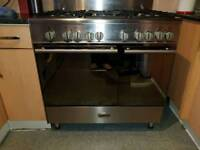Kenwood range cooker 90cm wide dual fuel