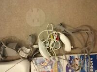 Wii console & Wii fit, 9 games and accessories