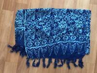 Blue flower design sarong