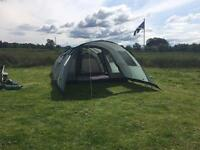 Vango Icarus 600 Deluxe, with optional canopy and tent carpet