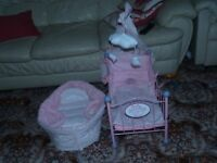 Baby Annabel Cot and Moses Basket
