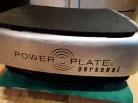 Power plate personal machine with straps and sound/ floor noise dampener