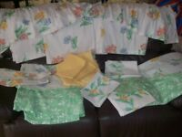 Single and Double bedding set and match Curtains