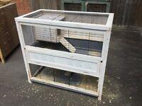 2 storey indoor rabbit hutch with bedroom