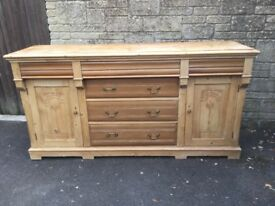 Large Old Pine Sideboard