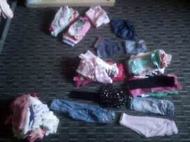 Huge Bundle of 12-18 months girls cloths 90+ items.. great condition