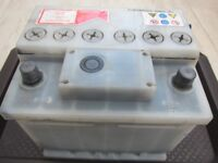 Car Battery 12V, type 063, 390amp 43Ah showing full charge on test meter Bristol Bs9