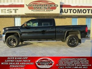 2015 GMC SIERRA 2500HD SLE CREW 4X4, HEATED SEATS, BACKUP CAM, R