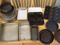 Selection of Baking Tins Inc 3 tier Wedding cake tins