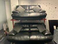 Black Harvey's sofas 3&2 delivery 🚚 suite couch furniture