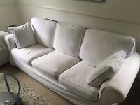IKEA 3 Seat White Sofa