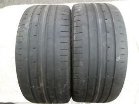 Two Good year Tyres,Low Profile,24S x 3R x 18's, Used,tread legal !,Ex BMW. (not re-treads)