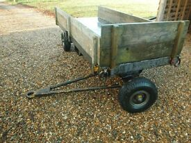 ex army 4 wheel trailer dolly turntable, twin axle